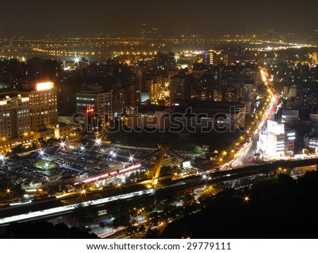 Taiwan Taipei night scene