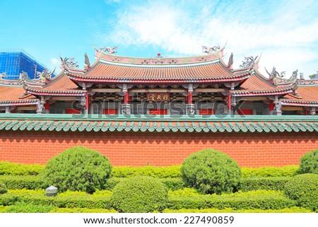 Taiwan temple - stock photo