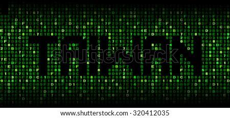 Taiwan text on hex code illustration - stock photo