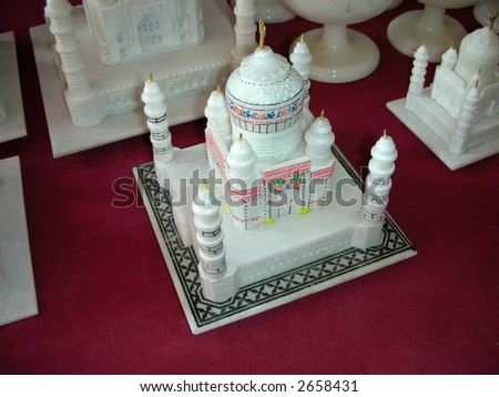 Taj Mahal - A marble replica that almost resembles the world famous tajmahal - stock photo