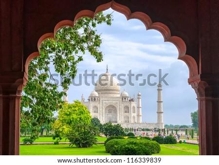 Taj Mahal, Agra, India - stock photo