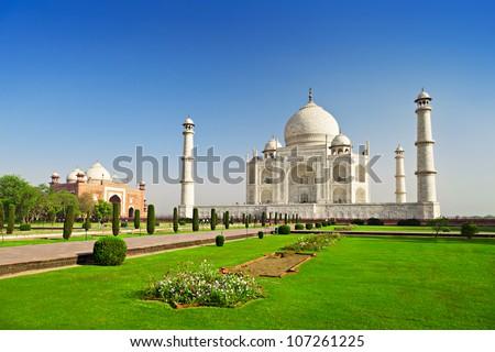 Taj Mahal, Agra, Uttar Pradesh, India - stock photo