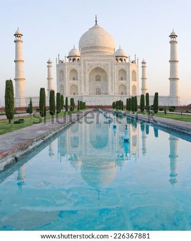 Taj Mahal in Agra, Uttar Pradesh, India  - stock photo