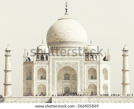 Taj Mahal in India, Agra, Uttar Pradesh, Asia - stock photo