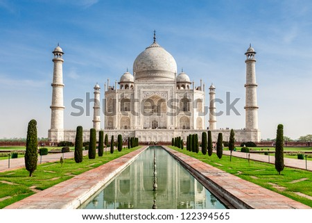 Taj Mahal, India - stock photo