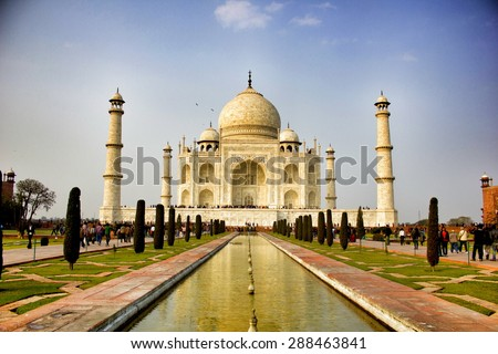 Taj Mahal, India . - stock photo