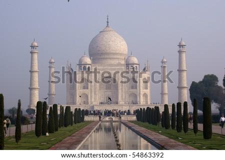 Taj Mahal - Mausoleum in Agra, India - stock photo
