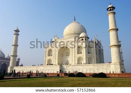 Taj Mahal palace, Agra, India - stock photo