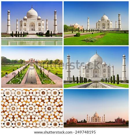 Taj Mahal set, Agra, Uttar Pradesh state in India - stock photo