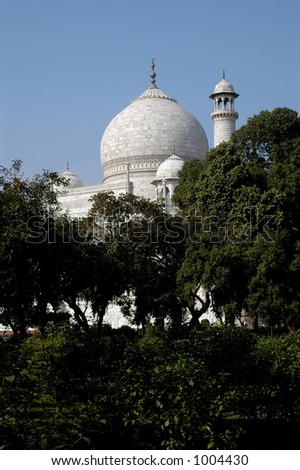 taj mahal, UNESCO world heritage site - stock photo