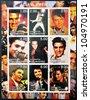 TAJIKISTAN - CIRCA 2001: collection stamps shows Elvis Presley, circa 2001 - stock photo