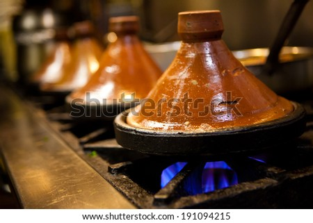Tajine Cooking - stock photo