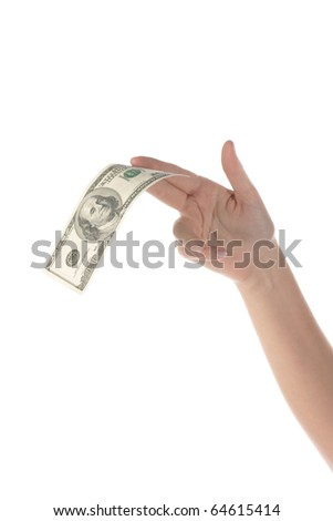 Take a dollar - stock photo
