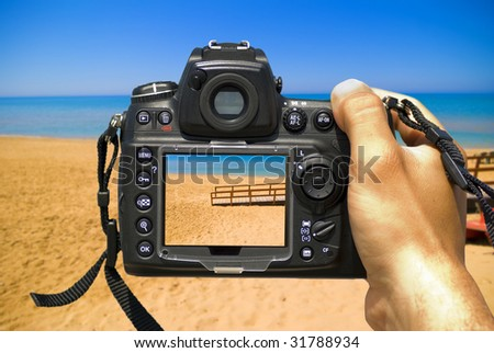 Take a photo of the summer - stock photo