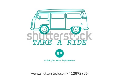 Take a Ride Traveling Adventure Journey Destination Van Concept - stock photo