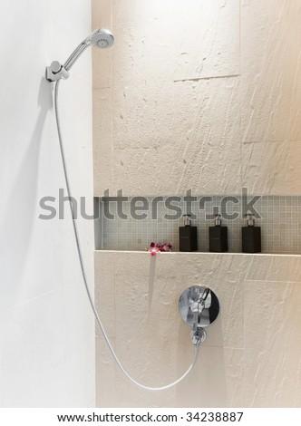 take a shower - stock photo