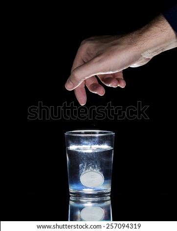 Take an aspirin - stock photo