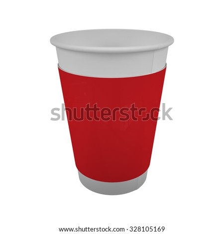 Take away or to go coffee paper cup for coffee or hot drink