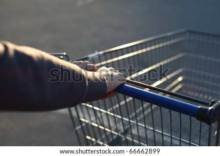 take cart in hands go shoping