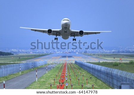 Take off. - stock photo