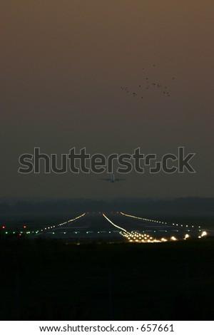 take-off - stock photo