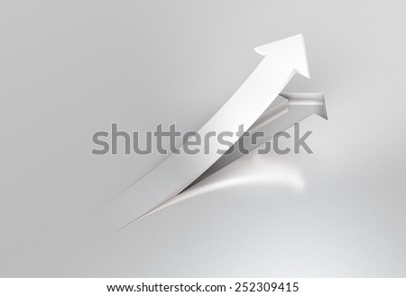 take off arrow - stock photo