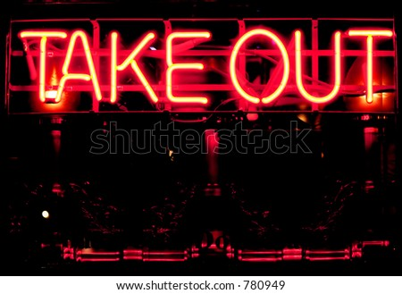 Take out restaurant - stock photo