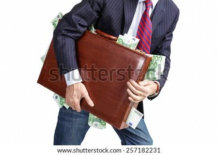 Take the money and run - stock photo