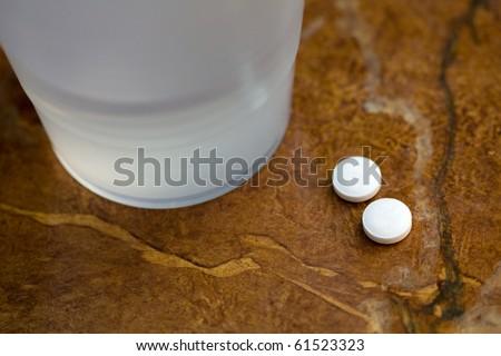 Take two aspirin - stock photo