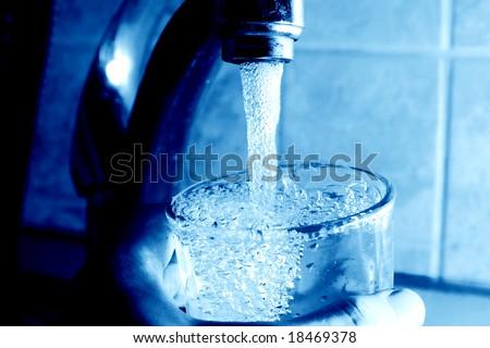 take water - stock photo