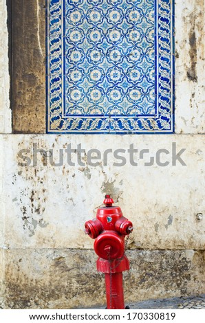 Take water for firefighters - stock photo
