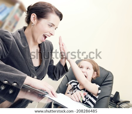 Take your daughter to work day - stock photo