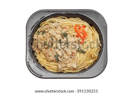 Takeaway spaghetti isolated