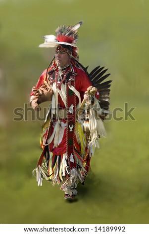 taken at a native pow wow - stock photo