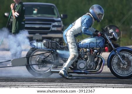 taken at elliot lake drag races - stock photo