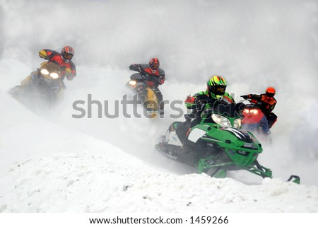 taken at kirkland lake snowmobile races - stock photo