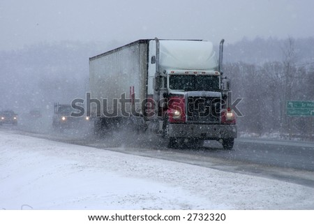 taken during a snowstorm - stock photo