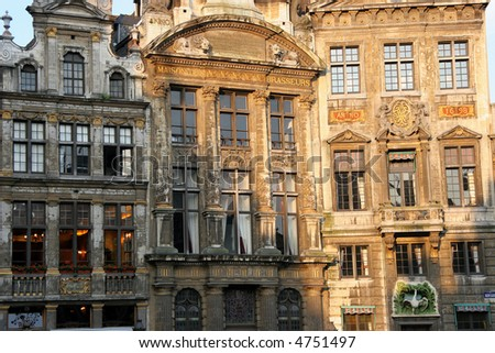 Taken in Brussels one early morning - stock photo