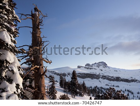 Taken just south of Table mountain in Wyoming,  Teton range. - stock photo