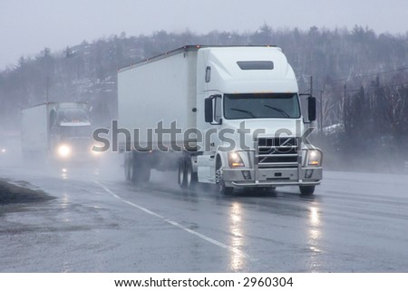 taken on highway sixty nine south - stock photo