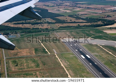 Takeoff from Rome international airport