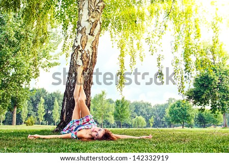 Taking a break - stock photo
