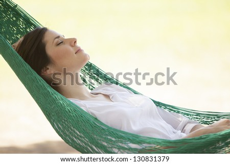 Taking a long nap - stock photo
