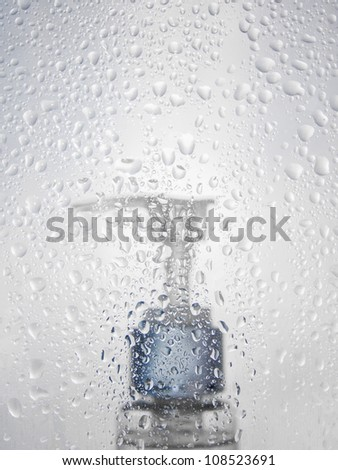 Taking a shower - stock photo