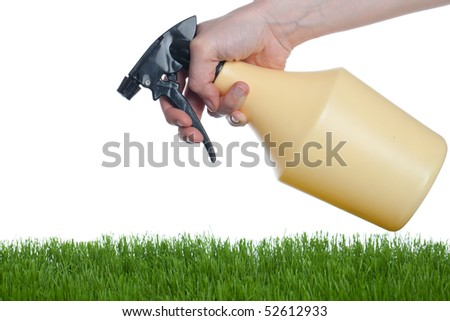 Taking care in the garden - stock photo