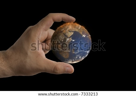Taking care to mother earth. - stock photo