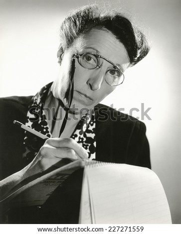 Taking dictation - stock photo
