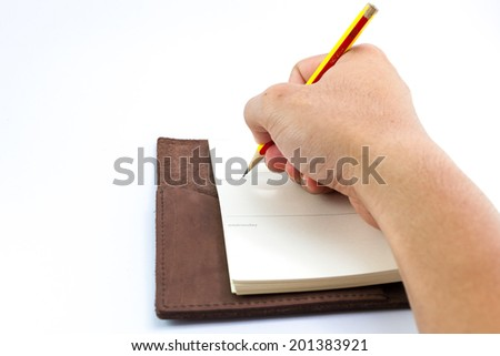 taking note on note paper - stock photo