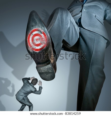 Taking out the competition, business concept. - stock photo