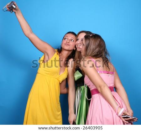 Taking photos - stock photo